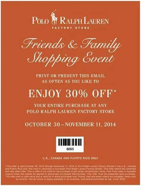 printable polo outlet coupons polo ralph lauren factory store canada coupons save 30