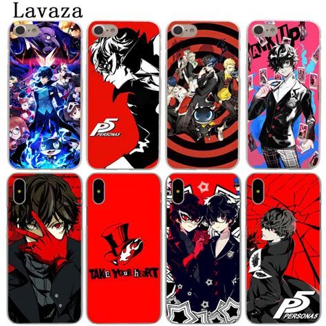 lavaza persona 5 p5 phone shell for apple iphone xs max xr x 6 6s 7 8 plus 5 5s se 5c