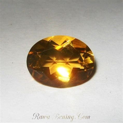 Liontin Wanita Batu Yellow Citrine jual permata citrine orangy yellow 1 52 carat