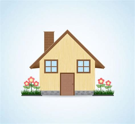 cartoon house vector picture ai