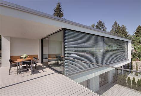 jalousie eckfenster carbon reduction using warema external venetian blinds