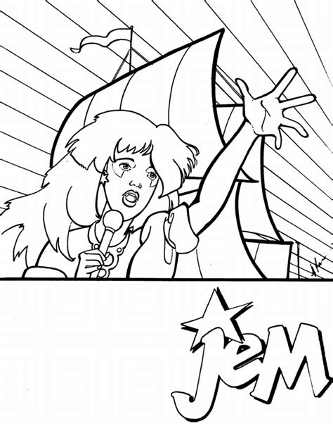 free coloring pages of jem