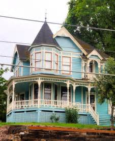 Queen Anne Victorian House Blue Queen Anne Victorian Charles Huntley Historic House 2