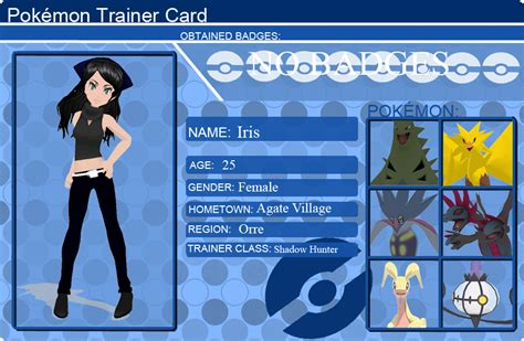 a trainer card iris s trainer card by mayapatch on deviantart