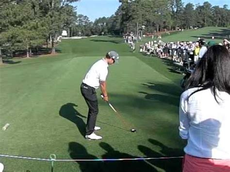 adam scott golf swing down the line adam scott slow motion 3 wood down the line 2012 youtube