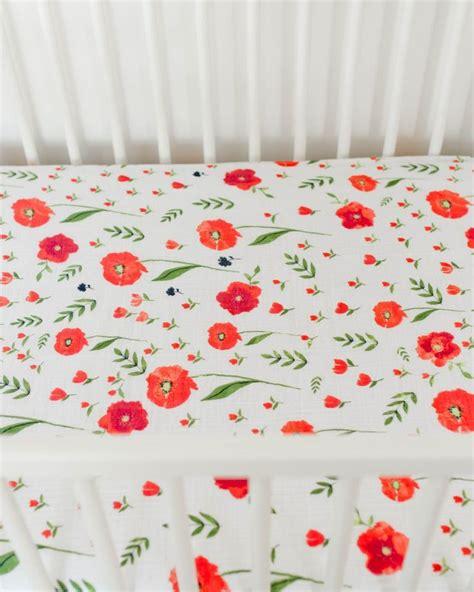 Muslin Crib Bedding Cotton Muslin Crib Sheet Summer Poppy Crib Sheets Crib And Babies