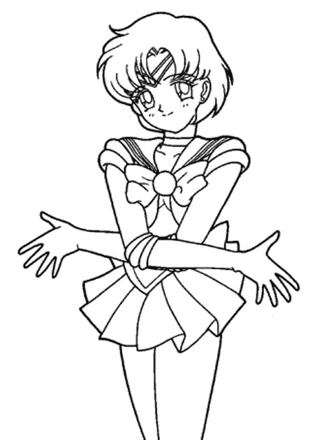 Sailor Mercury Coloring Pages Mercury Coloring Pages