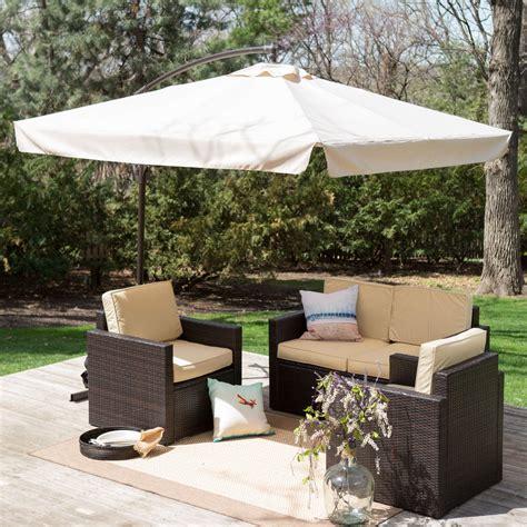Patio Umbrella Gazebo 8 Ft Square Offset Patio Umbrella Gazebo From Beyond Furniture