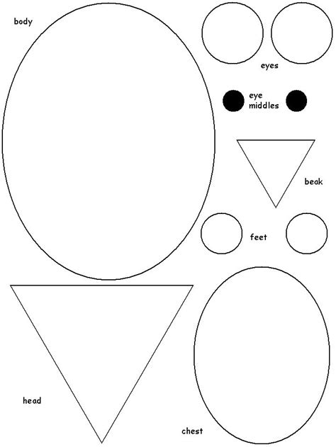 shape template shape owl template owls