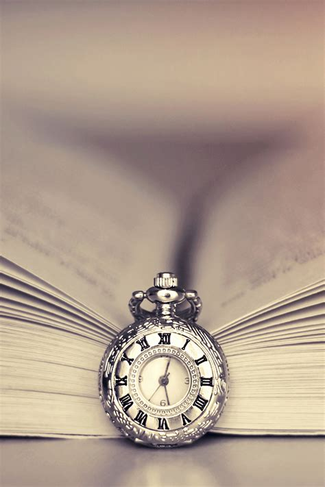 clock  book iphone wallpaper hd