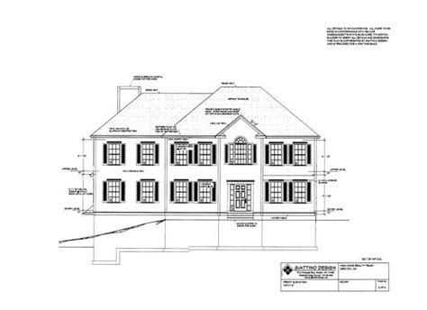 Hip Roof Colonial House Plans Groton