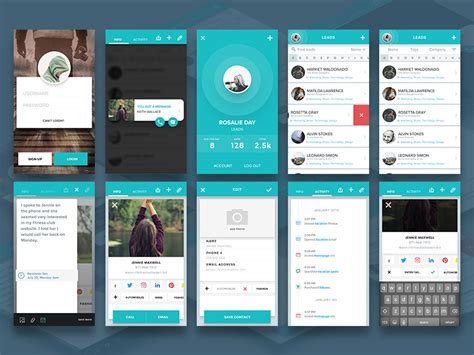 home network design app contacts app concept freebie download sketch resource