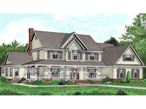 Two Story Country House Plans by Two Story House Plans With Wrap Around Country Porch