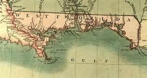 west florida map map of west florida 1806