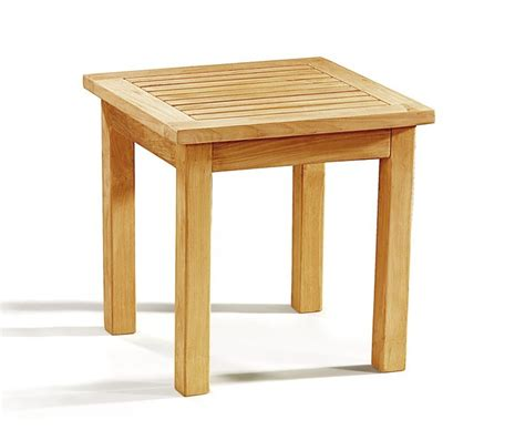 Garden Side Table Occasional Teak Square Garden Side Table