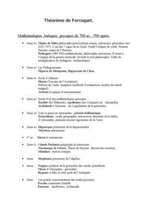 Calaméo - Theoreme de perroquet resumé maths!!! Denis Guedj
