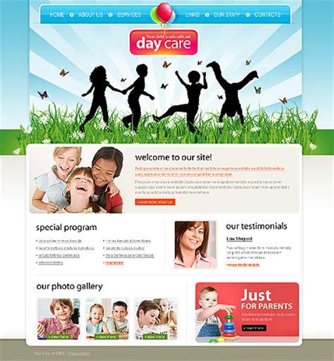 Colorful Day Care Nursery Kindergarten Kids Website Templates Entheos Child Care Website Template