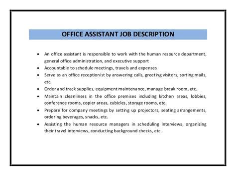 Office Assistant Job Description Resume   RecentResumes.com