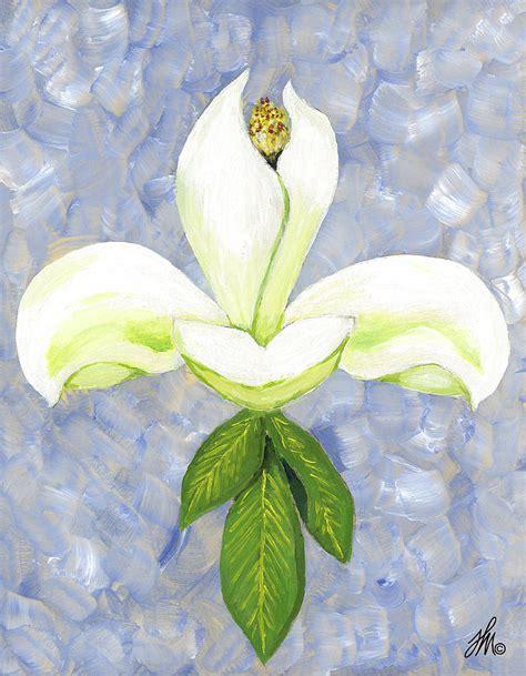 collection of 25 fleur de lis flower design fleur de magnolia painting by fleur de