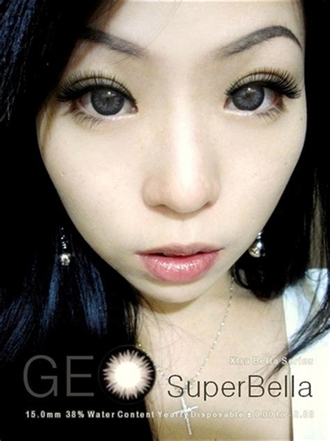 geo bella grey circle lenses colored contacts geo bella grey wbs 205 contacts cow