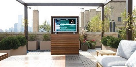 outdoor tv enclosure ideas   entertainment outdoors