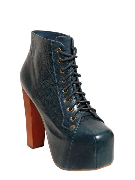 lita shoes jeffrey cbell 120mm lita distressed leather boots in