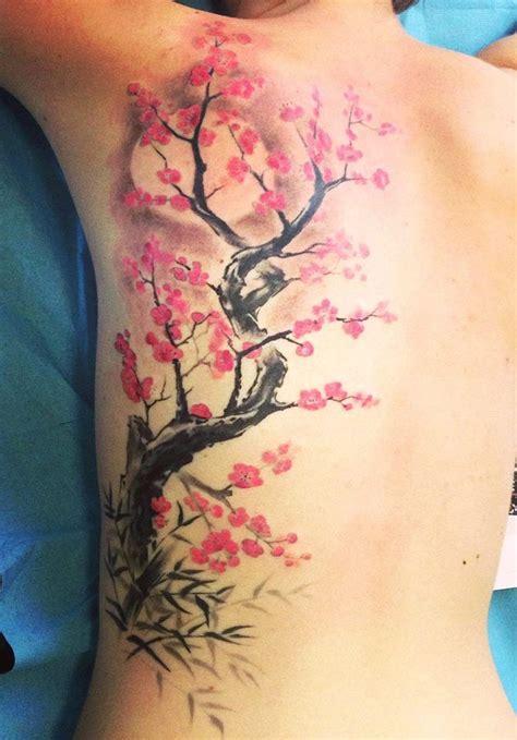 tattoo japanese tree sakura blossom flower tattoo ink a tattoo lyon tattoo