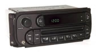 dodge caravan 2005 radio amfm cd player w auxiliary input