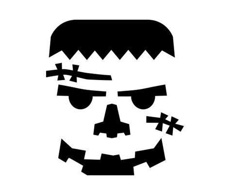 Printable Pumpkin Stencils Frankenstein | download this frankenstein pumpkin carving stencil and