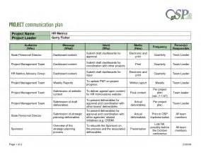 project management communication plan template best photos of communication plan exle exle