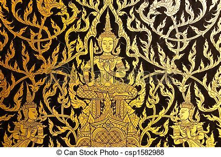 pictures of thai style painting art. traditional thai