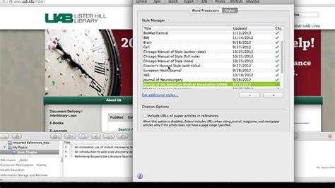 zotero bibliographie tutorial zotero managing citation styles youtube