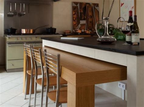 sur la table kitchen island 63 mod 232 les originaux de table gain de place archzine fr