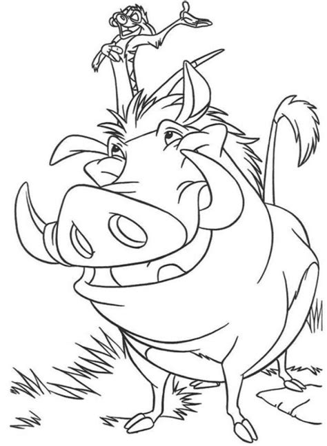 timon and pumba coloring pages coloring home