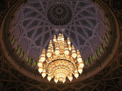 Mosque Chandelier Muscat 04 Grand Mosque 05 Chandelier Hanging From Central Dome