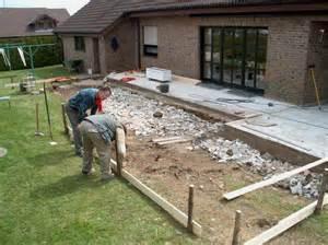 bauarbeiten zur gro 223 en terrasse