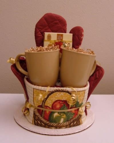 Gift Ideas For Kitchen Tea Apple Kitchen Towel Cake With Apple Cinnamon Tea The Flourless Bakery Basket Ideas