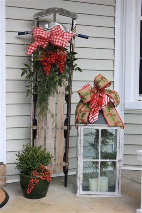 outdoor christmas decorations ideas porch natural outdoor christmas decorations daisymaebelle
