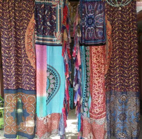 Boho Window Curtains Boho Curtains Drapes Hippie Luxe Hippy Bohemian Chic Paisley Scarf Hippiewild Blue Wall