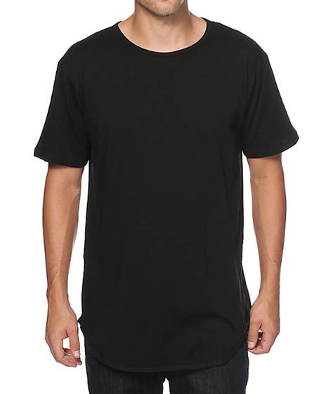 Tshirt P Path Black eptm basic elongated drop t shirt
