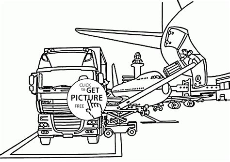 box truck coloring page box truck in the airport coloring page for kids