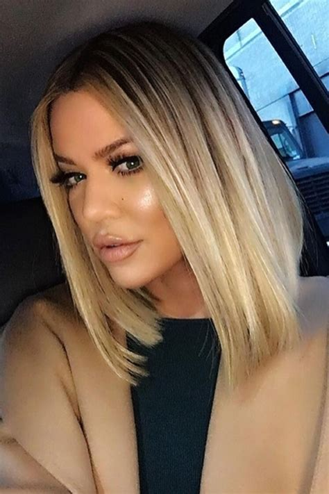 khloe kardashian goes brunette heres how she got her new hair the 25 best long bob blonde ideas on pinterest long bob