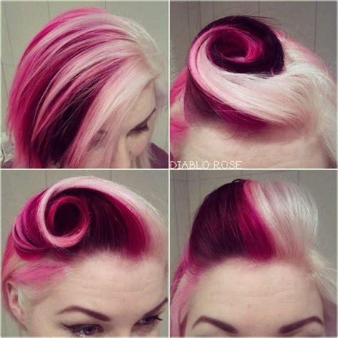 colour style raspberry sundae hair style dark brown hairs