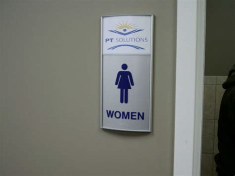 custom bathroom signs news from signs more inc