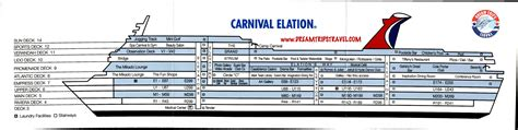 carnival cruise floor plan deckplans carnival paradise cruise ship deck plan floor