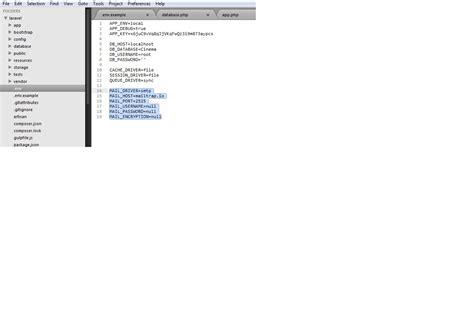 laravel mail tutorial laravel mail tutorial file env of laravel don t have mail
