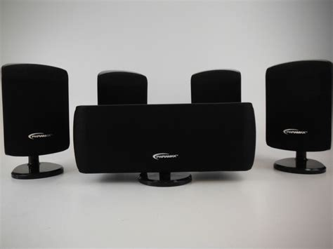 paramax black 5 home theater speaker system im3