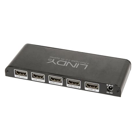 Hdmi Spliter 4 Port By Sofwancell 4 port hdmi 2 0 10 2g splitter from lindy uk
