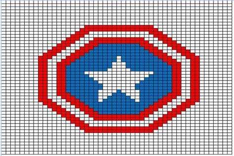 crochet pattern logos superhero logo charts capt america crochet and cross stitch