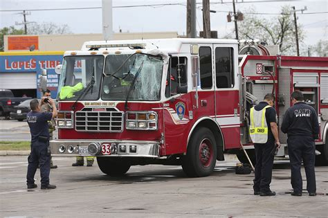 Truck Attorney San Antonio 2 by San Antonio Trucks Collide Two Firefighters Taken To